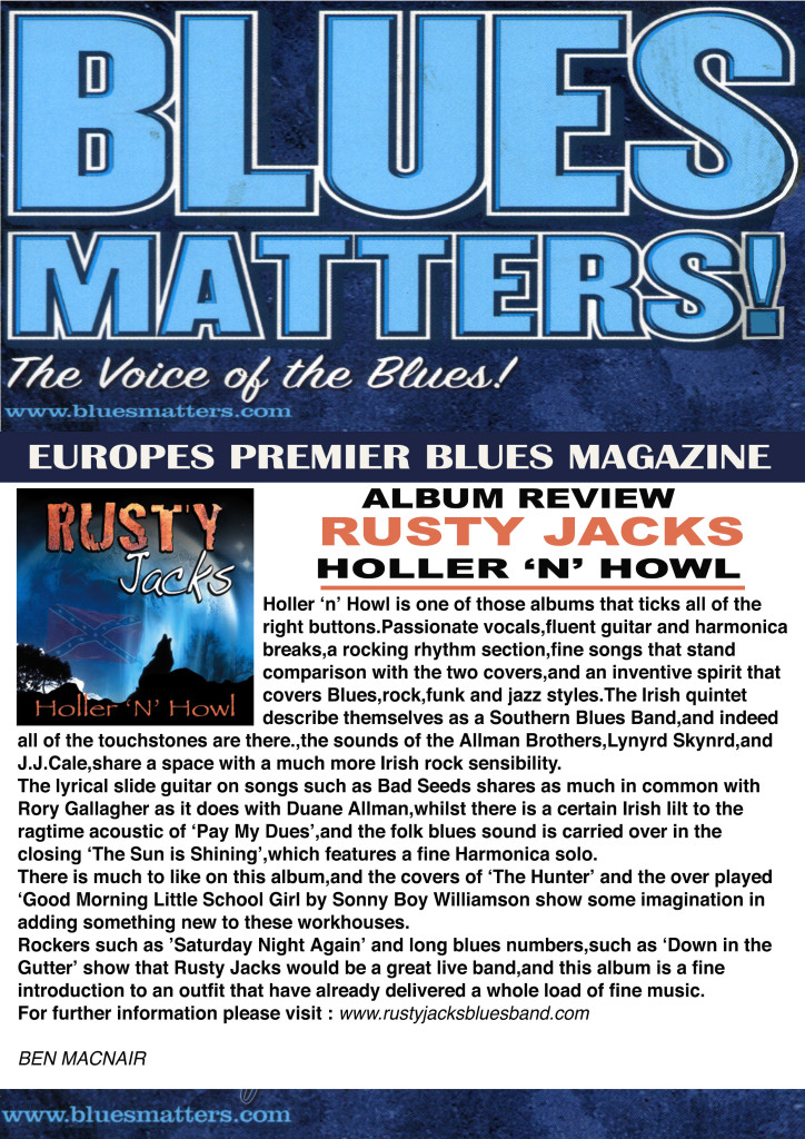 BLUES MATTERS -ALBUM REVIEW x